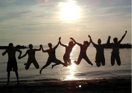 One of our mission groups took this picture by the lake!