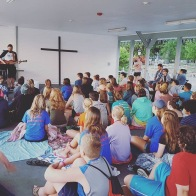 This was part of our Commissioning service that took place Monday evening before we left for our missions the next morning.